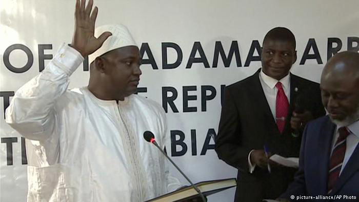 Adama Barrow Sworn in as New President in Senegal Embassy