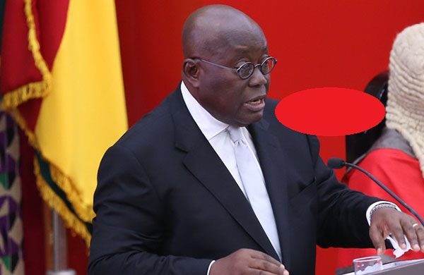 File image - President Akufo-Addo delivering his State of the Nation Address