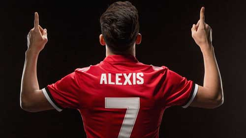 Sanchez will wear the No 7 shirt at Manchester United. Photo credit - skysports