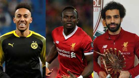 Aubameyang, Mane and Salah nominated for CAF best player award