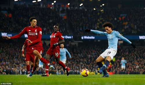 Leroy Sane put the home side in front with less than 20 minutes to play with a low-drilled shot that cannoned off the post. Reuters photo