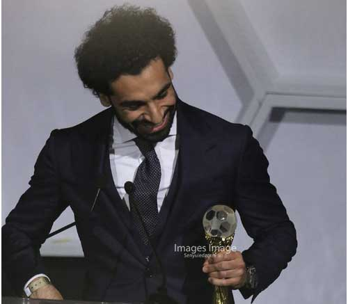 Winning Africa Footballer of The Year Award is a dream come true - Mohammed Salah. Image credit - S. A. Adadevoh