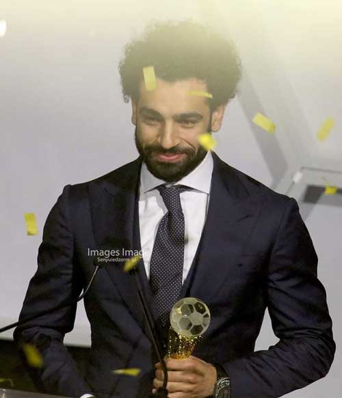 Liverpool's Mohamed Salah wins African footballer of the year. Photo credit - S. A. Adadevoh
