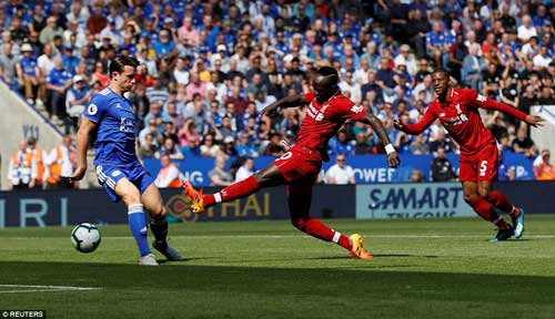 Mane fired Liverpool into a 10th-minute lead as they take command of the fixture at the King Power Stadium.