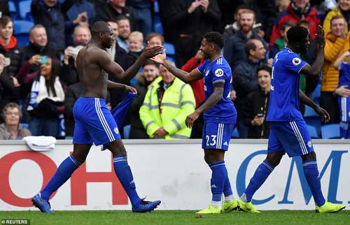 Sol Bamba sparked wild celebrations with his last-gasp winner for Cardiff against Brighton on Saturday afternoon. Reuters image