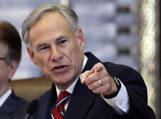 Texas governor Abbott orders wearing of masks in effort to avoid lockdown