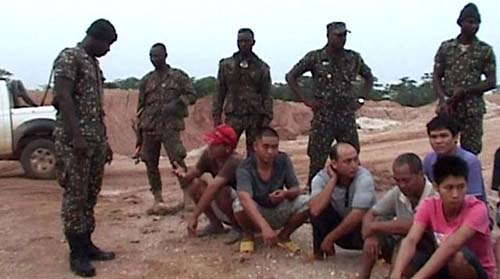 China says 31 nationals detained in Zambia for illegal mining. Photo: minging.com