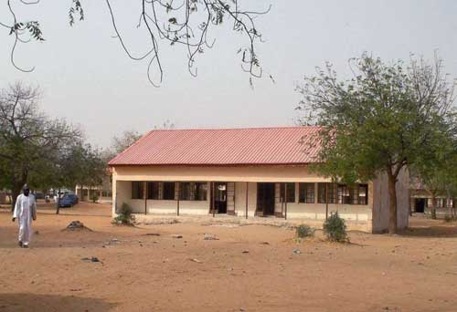 This photo shows the school in Dapchi in the northeastern state of Yobe, Nigeria, where dozens of school girls went missing after an attack on the village by Boko Haram, Feb. 22, 2018.