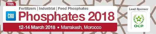 CRU and OCP to bring over 500 global fertilizer leaders to Marrakesh to explore market dynamics and technical innovation at the Phosphates 2018 conference