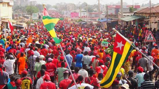 File image - Thousands cap off 2017 in Togo with huge protest march against President Faure Gnassingbe