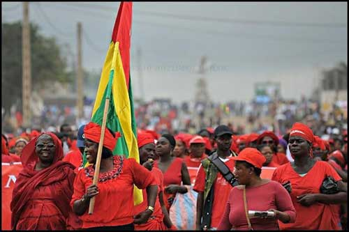 File image - Togolese women set to hold mammoth all-women only demonstration on Saturday. Twitter image