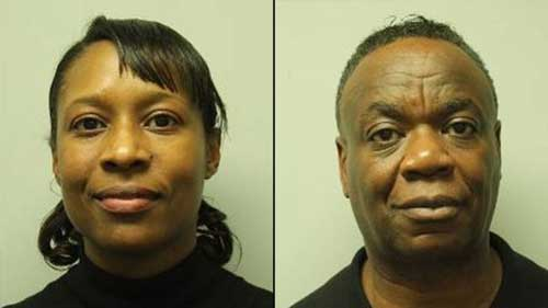 A Frisco couple was arrested at a Boston-area hotel after police found a stockpile of weapons in their room and vehicle, police said.