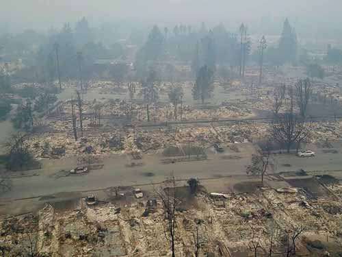 Wildfires rage through California wine country. abcnews photo