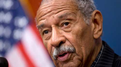 Conyers Resigns Amid Sexual Harassment Allegations. AP photo