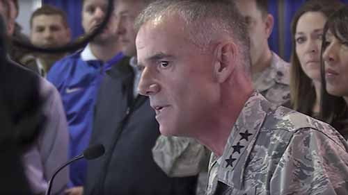 'Get out!' General blasts racist messages targeting Air Force cadets
