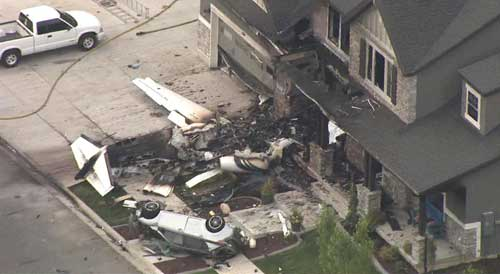 Police: Man flies plane into his home after fight with wife