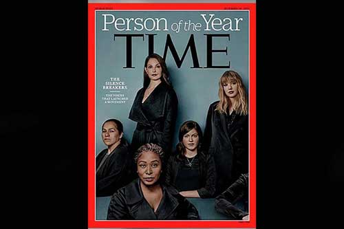 The 'silence breakers' of #MeToo movement named Time magazine's 2017 person of the year