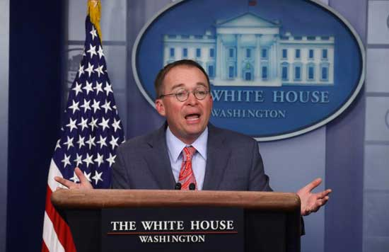Mick Mulvaney, acting White House chief of staff. Reuters image