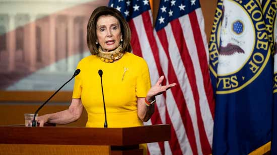 Speaker of the House Nancy Pelosi holds her weekly news conference in the Capitol, May 20, 2020.