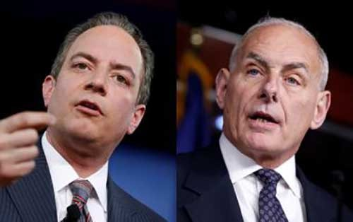 Reince Priebus (L) and John Kelly (R) Photo: Reuters