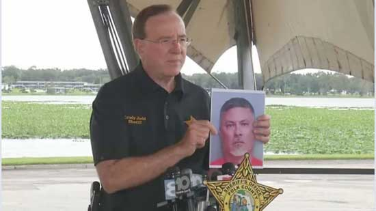 Polk County Sheriff Grady Judd said at a news conference that 46-year-old Shawn Fitzgerald possessed hundreds of pornographic images. (Spectrum News image)