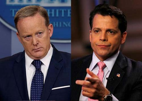 Anthony Scaramucci and White House Press Secretary Sean Spicer (L) - Photo credit - slate
