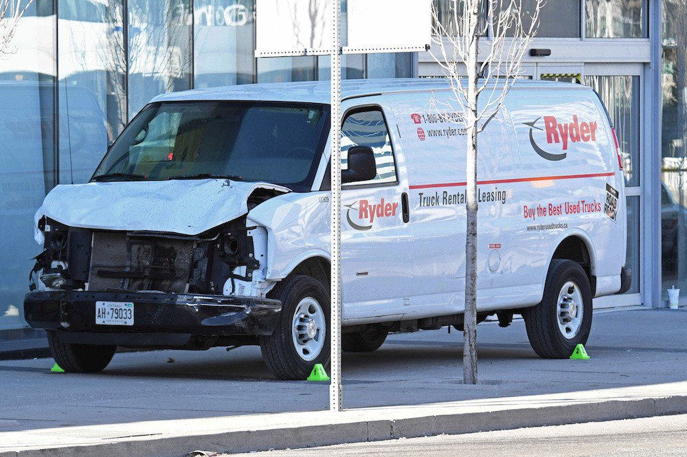 Driver kills 10, injures 15 plowing van into Toronto sidewalk crowd