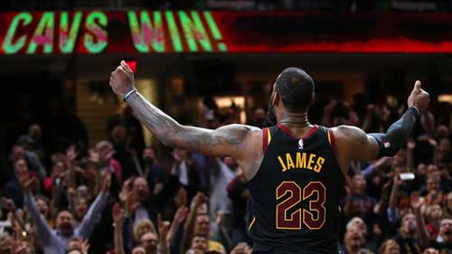 LeBron's 35 help Cavs beat Celtics 87-79 for eighth straight NBA Finals appearance