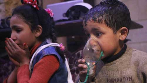 Dozens reported dead in suspected Syria gas attack