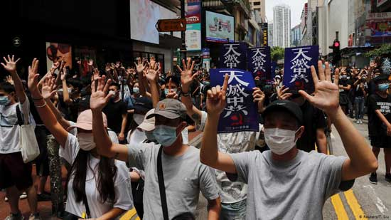 Thousands protest Chinese security law as unrest returns to Hong Kong. Image credit - DW