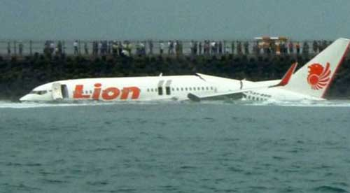 Indonesian plane crashes into sea, all 189 on board feared dead. Image credit - Blangladesh Post