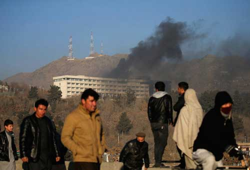 KABUL: Gunmen stormed a luxury hotel in Kabul killing at least six people, including a foreigner, sparking a twelve hour fight with security forces.