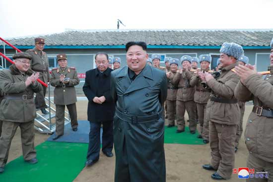 North Korean leader Kim Jong Un oversees a super-large multiple launch rocket system test in this undated picture released by North Korea's Central News Agency (KCNA) on November 28, 2019. KCNA via REUTERS