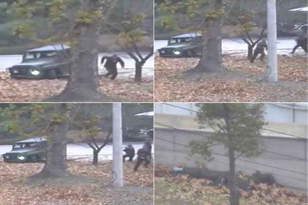 A combination of images made from Nov. 13 surveillance video released by the United Nations.- Japan Times