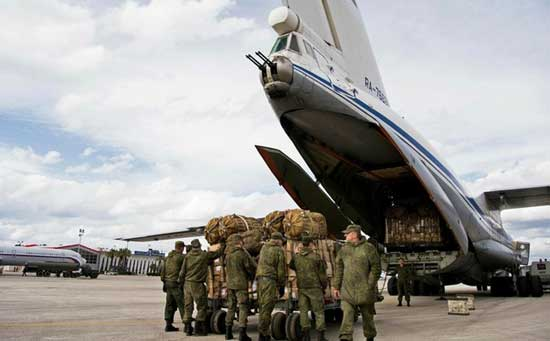 Firle image - Russian air force planes carrying troops land in Venezuela's Caracas