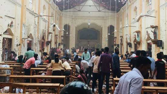 (St. Sebastian's Church)  An explosion rocked St. Sebastian's Church in Negombo, Sri Lanka, on Sunday, April 21, 2019.