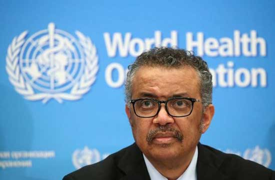 WHO Director General Tedros Adhanom Ghebreyesus . File image