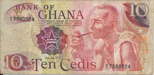 First Ghanaian signature on the Cedi