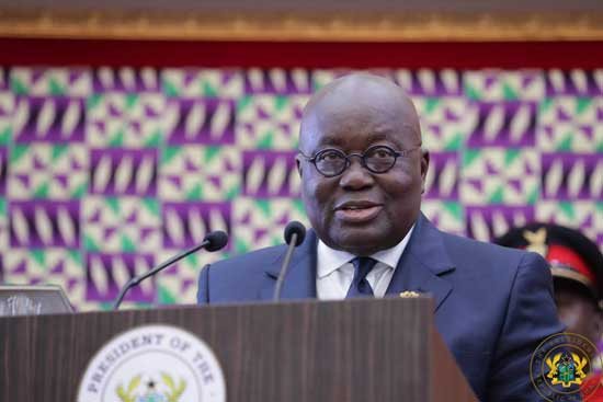File image - President Akufo-Addo delivering the State of the Nation Address delivered to Parliament on February 21, 2019.