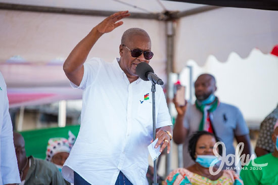 Mahama calls for independent audit of 2020 elections results