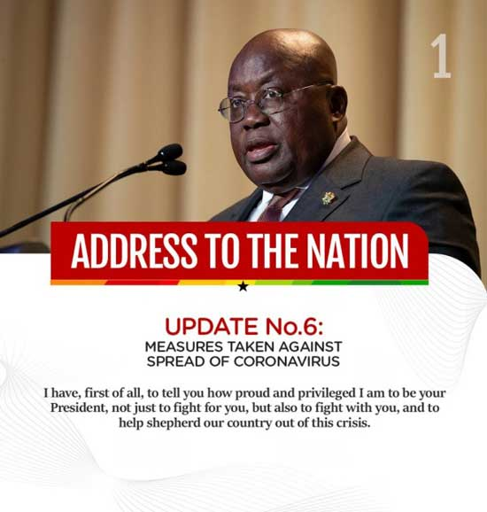 Full Text: President Akufo-Addo On Updates To Ghana's Enhanced Response To COVID-19