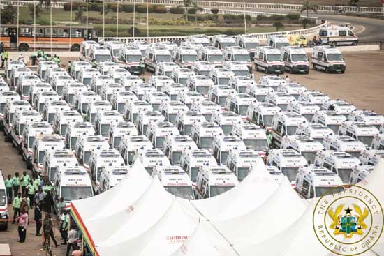 The Commissioning And Distribution Of 307 Ambulances