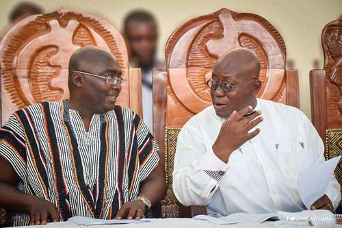 VP Dr. Bawumia (L) with President Akufo-Addo. Image credit - graphiccomgh