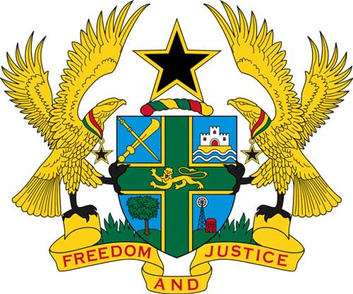 Ghana's Coat of Arms. No one has the right to destroy the peace of Ghana