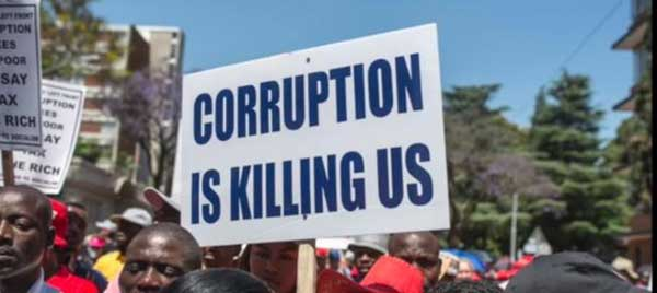 Corruption index and matters arising