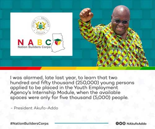 The Nation Builders Corps Programme Launched By President Akufo-Addo