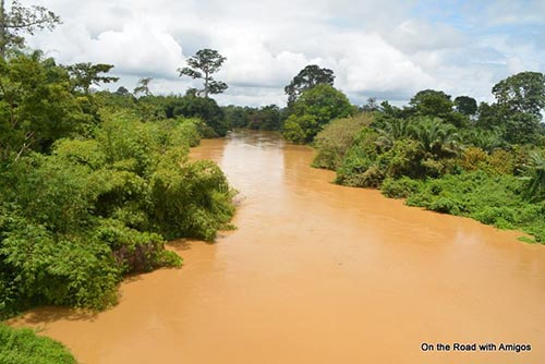 File image - A 2016 view of the once pristine Pra River in the Eastern Region of Ghana, now compromised by the activities of illegal miners. Photo: K. Amigosten Amoah