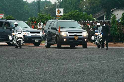 The Vice-President's convoy and matters arising. Photo credit - citi fm