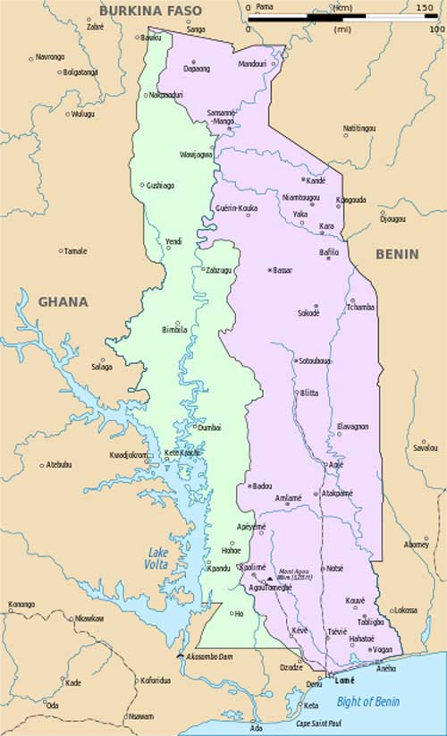 Western Togoland Map