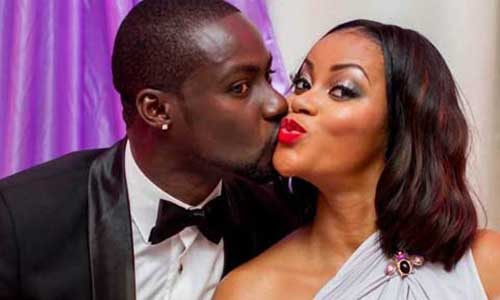Chris Attoh (L) with former wife, Damilola Adegbite. Photo credit – nigeriafilms